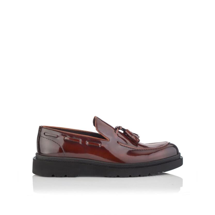 Chaussures Slip-on pour Hommes Luigi Cuir verni Rouge