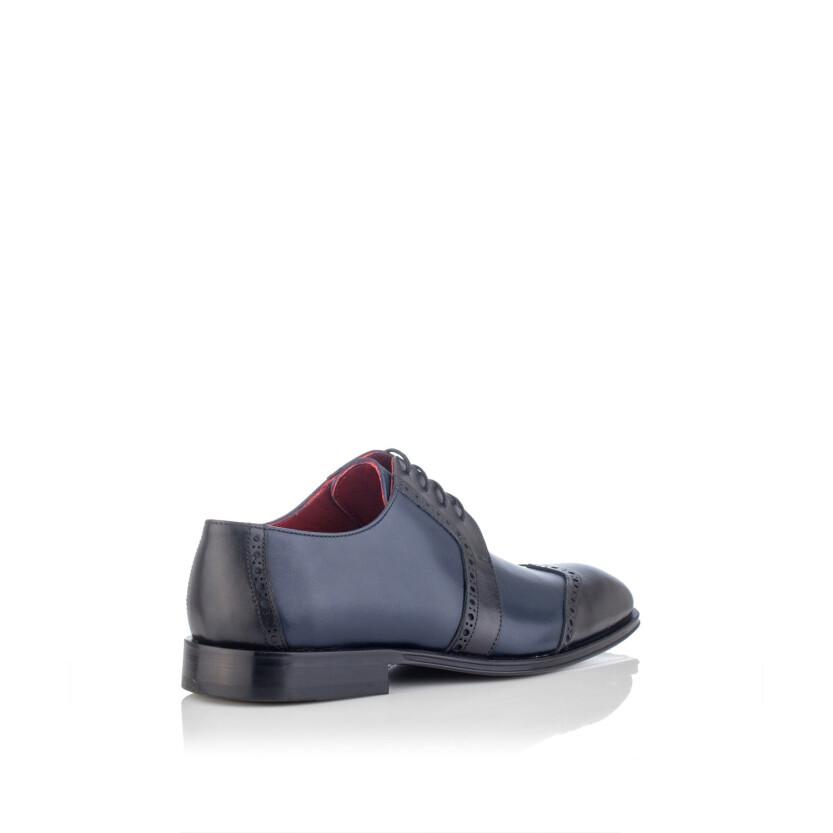 Chaussures Derby pour Hommes Paolo Bleu & Noir