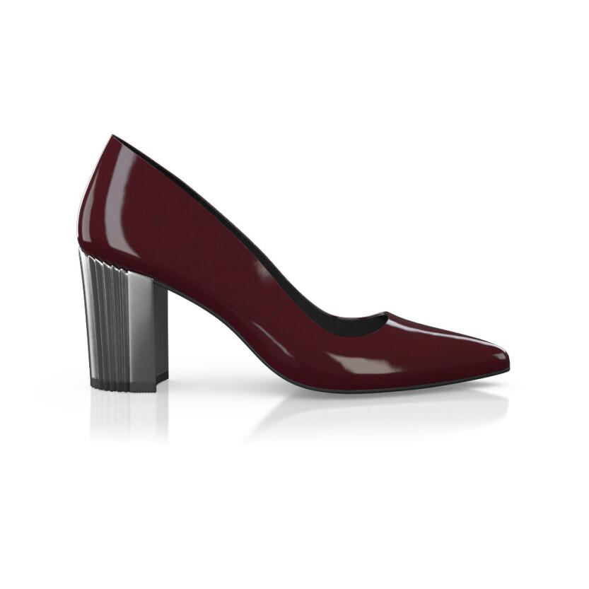 Chaussures à talon compensé métallique 8692