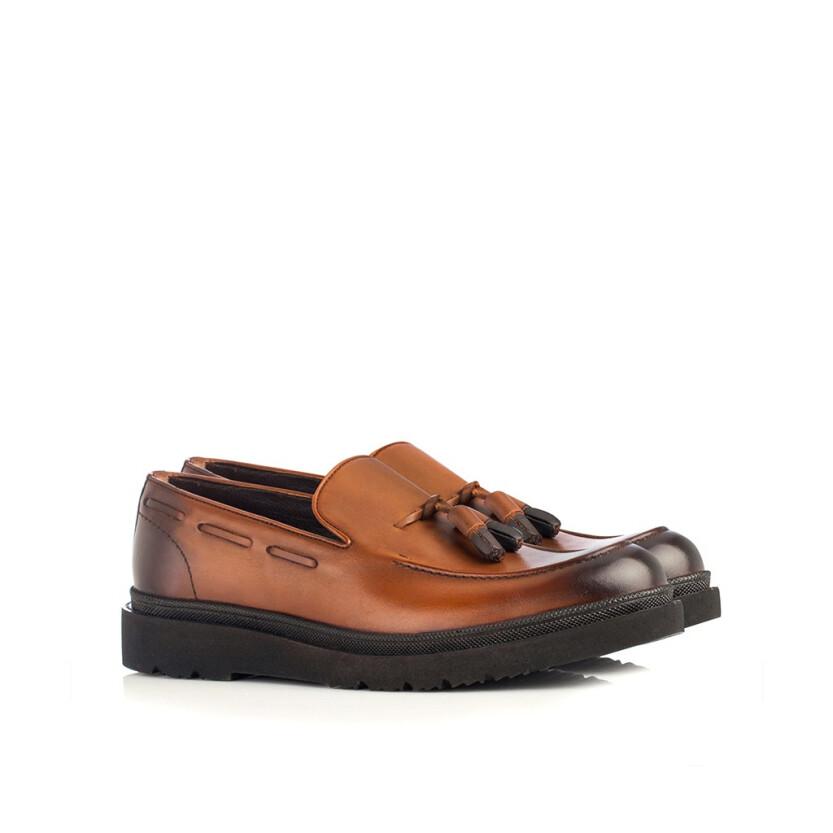 Chaussures Slip-on pour Hommes Luigi Cognac