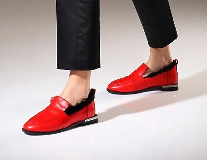 Chaussures à Enfiler Giorgia Rouge