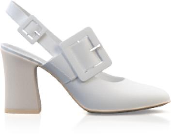 Chaussures classiques à talon large