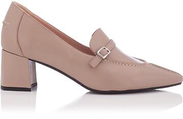 Chaussures pointues à talon large Grazia Khaki