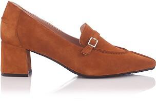 Chaussures pointues à talon large Grazia Daim Taba