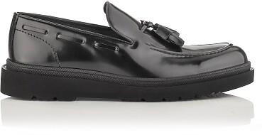 Chaussures Slip-on pour Hommes Luigi Cuir verni Noir