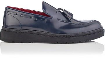 Chaussures Slip-on pour Hommes Luigi Cuir verni Bleu