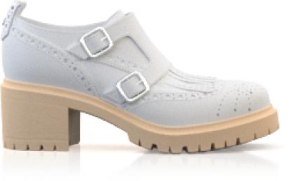 Chaussures derby à talon bloqué