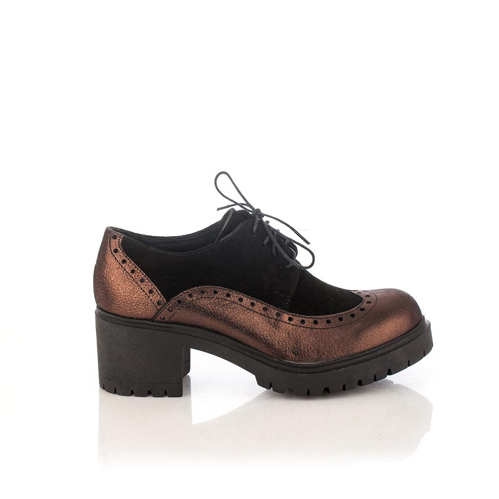 b2afb50f40729 Chaussures de Ville Agnese Noir   Bronze   Girotti