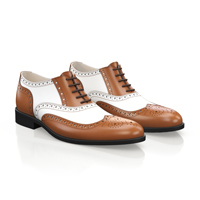 MEN'S BROWN WHITE SHOES