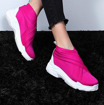 Neon Yellow Platform Sneakers