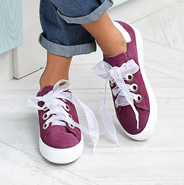 Platform Sneakers with Inscription