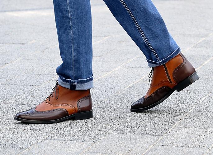 Men's brogue ankle boots