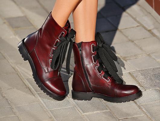 combat boots bordo