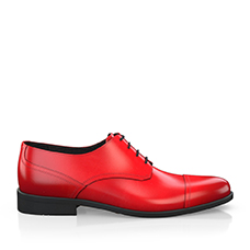 Red derby shoes